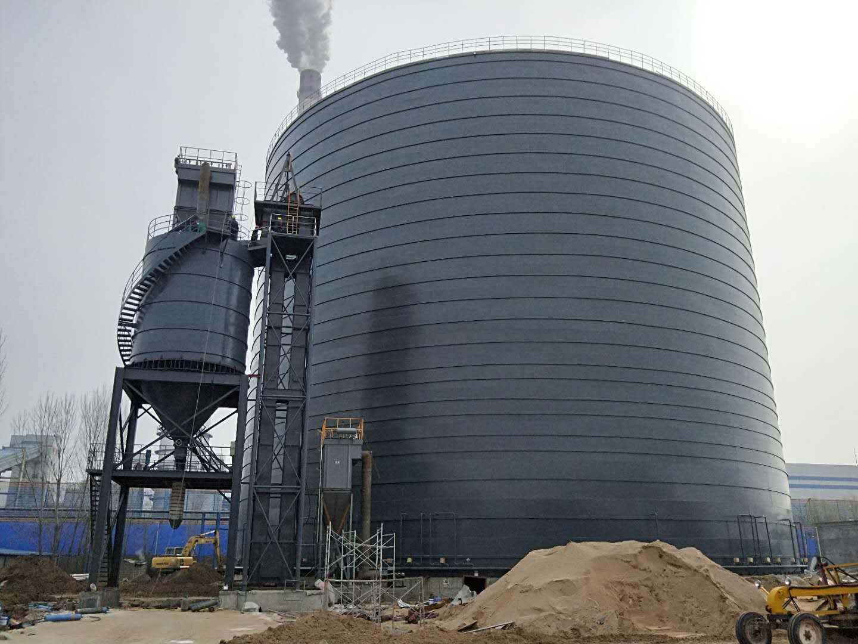 <b>河南濮阳五万吨粉煤灰钢制储灰库钢板仓</b>